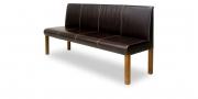 CF800 - Sitzbank in braunem Leder