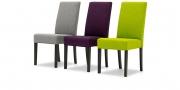 CF950 - Stühle im Webstoff grau lila grün Seitenansicht