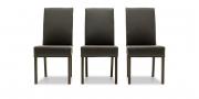 CF950 - Stühle in Leder Rustik schwarz-braun