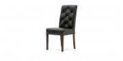 CF 960 Prunk - Stuhl in Leder schwarz mit Heftung mit Swarovskisteinen