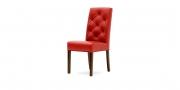 CF 960 Prunk - Stuhl in Leder rot mit Knopfheftung im Rücken