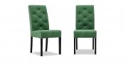 CF 960 Prunk - Stuhl mit Knopfheftung in Mikrofaserstoff Alcantara eucalyptus grün