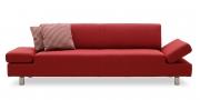 CENTO - 2,5 Platz Sofa im Stoff Bendigo rot