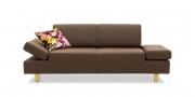 CENTO - 2 Platz Sofa in Leder Toledo espresso