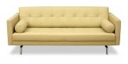 CHESTER - 2,5 Platz Sofa in cremeweißem Leder