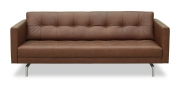 CHESTER - 2,5 Platz Sofa in braunem Leder