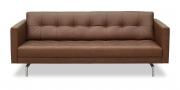 CHESTER - 2,5 Platz Sofa in braunem Leder