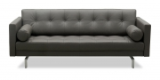 CHESTER - 2,5 Platz Sofa in Leder anthrazit
