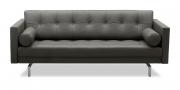 CHESTER - 2,5 Platz Sofa in Leder anthrazit