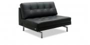 CHESTER - Sitzkorpus ohne Armlehne als Sonderbau in Leder schwarz