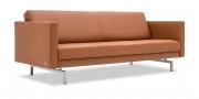 CHESTER - 2,5 Platz Sofa ohne Knopfheftung in Leder Rustik tobacco