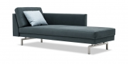 CHESTER - Liegesofa in Mikrofaser S+V Like Suede grau