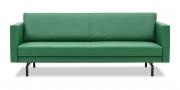 CHESTER - 2,5 Platz Sofa ohne Knopfheftung in Leder Napoli Arcadia grün