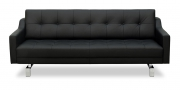CHESTERFIELD - 2,5 Platz Sofa in schwarzem Leder