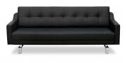 CHESTERFIELD - 2,5 Platz Sofa in schwarzem Leder