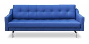 CHESTERFIELD - 2,5 Platz Sofa in blauem Leder