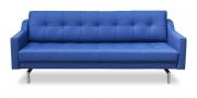 CHESTERFIELD - 2,5 Platz Sofa in blauem Leder