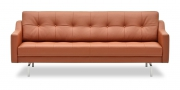 CHESTERFIELD - 2,5 Platz Sofa in rotbraunem Leder