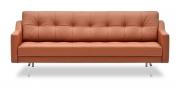 CHESTERFIELD - 2,5 Platz Sofa in rotbraunem Leder
