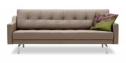 CHESTERFIELD - 2,5 Platz Sofa in Leder Napoli grau-beige