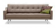 CHESTERFIELD - 2,5 Platz Sofa in Leder Napoli grau-beige