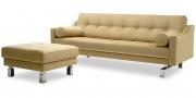 CHESTERFIELD - 2,5 Platz Sofa in Mohair Brasilia beige Seitenansicht