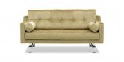 CHESTERFIELD - 2 Platz Sofa in Mohair Stoff Brasilia gold