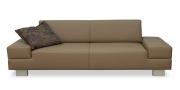 CORA - 2,5 Platz Sofa in grau-beigem Leder
