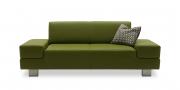 CORA - 2 Platz Sofa in grünem Leder