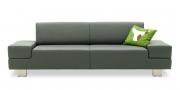 CORA - 2,5 Platz Sofa in grauem Leder