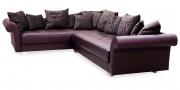 DIVAN - Sofa Ecklösung in braunem Leder