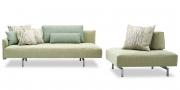 EASY -Big Sofa mit Steckrücken und Sessel mit mobiler Rückenlehne