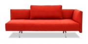 EASY - 3 Platz Sofa mit Rückenkissen in Mikrofaserstoff Like Suede rot