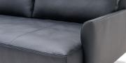 EASY - Detailbild der Steckarmlehne in Leder Jumbo schwarz