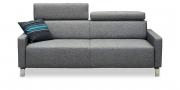 FINESSE - 2,5 Platz Sofa im Stoff grau meliert