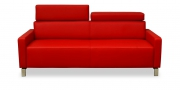 FINESSE - 2,5 Platz Sofa in Leder rot