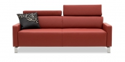 FINESSE - 2,5 Platz Sofa in Leder Napoli ziegelrot