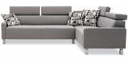FINESSE - 2,5 Platz Sofa im Stoff Mercis Elize grau