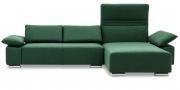 FONTANA II - 2 Platz Sofa mit Longchair in Stoff Prima tannengrün