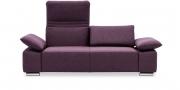 FONTANA II - 2 Platz Sofa mit klappbaren Rücken und Armlehnen in Stoff lila