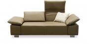 FONTANA - 2 Platz Sofa in schlammfarbenem Leder