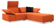 FONTANA - 1 Platz Korpus mit Longchair 70 im Stoff S+V Contempo orange