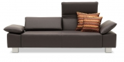 FONTANA - 2,5 Platz Sofa in Leder Napoli testa di moro dunkelbraun