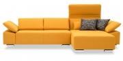 FONATAN - 2 Platz Sofa mit Longchair im gelben Stoff von S & V Provence