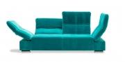FUGO - 2,5 Platz Sofa im samtigen türkisen Stoff