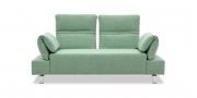 FUGO - 2 Platz Sofa mit Relax-Armlehne in Stoff hellgrün-meliert
