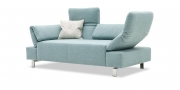 FUGO - 2 Platz Sofa in Stoff S&V Magic Enjoy hellblau meliert