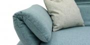 FUGO - Detailbild von klappbare Relax-Armlehne in Stoff hellblau meliert
