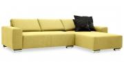 FUTURA - 2 Platz Sofa mit Longchair im Stoff JOOP Opal gelb