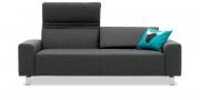 FUTURA - 2,5 Platz Sofa im Stoff S+V Martinez anthrazit meliert